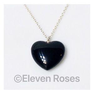 Tiffany & Co. Black Onyx Heart Necklace